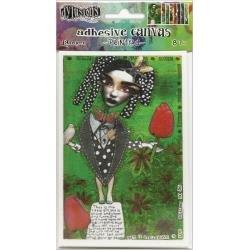 Dyan Reaveley's Dylusions Adhesive Canvas 3.375X5.25 8/Pkg-Set #3