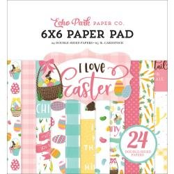 Echo Park Double-Sided Paper Pad 6X6 24/Pkg I Love Easter
