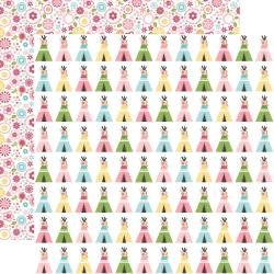 Echo Park All Girl Double-Sided Cardstock 12X12 Teepee Trails