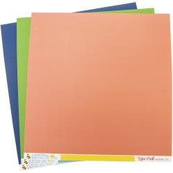 Echo Park Double-Sided Solid Cardstock 12X12 6/Pkg Summertime