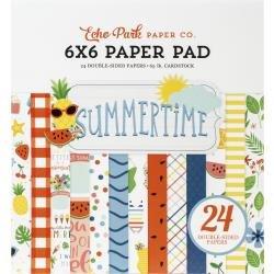 Echo Park Double-Sided Paper Pad 6X6 24/Pkg Summertime