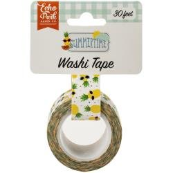 Echo Park Summertime Washi Tape 30' Cool Pineapples
