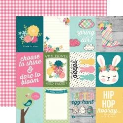 Simple Stories Hip Hop Hooray Double-Sided Cardstock 12X12 3X4 Elements
