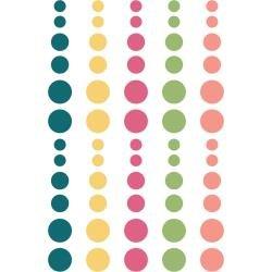 Simple Stories Hip Hop Hooray Enamel Dots Embellishments 60/Pkg