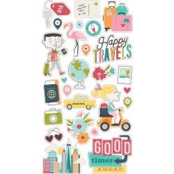 Simple Stories Going Places Chipboard Stickers 6X12