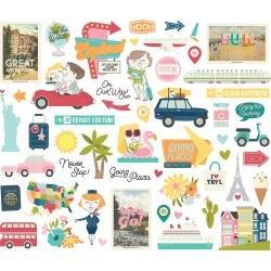 Simple Stories Going Places Bits & Pieces Die-Cuts 52/Pkg