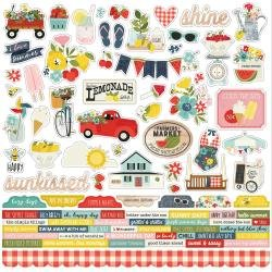 Simple Stories Summer Farmhouse Cardstock Stickers 12X12 Combo
