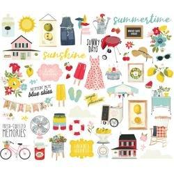Simple Stories Summer Farmhouse Bits & Pieces Die-Cuts 56/Pkg