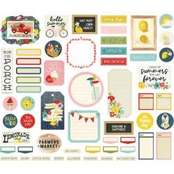 Simple Stories Summer Farmhouse Bits & Pieces Die-Cuts 57/Pkg Journal