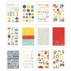Simple Stories Summer Farmhouse Stickers 4X6 12/Pkg