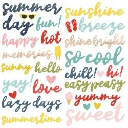 Simple Stories Summer Farmhouse Foam Stickers 39/Pkg