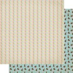 Authentique Cottontail Double-Sided Cardstock 12X12 #3 Jelly Beans
