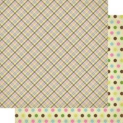 Authentique Cottontail Double-Sided Cardstock 12X12 #6 Spring Plaid