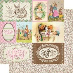 Authentique Cottontail Double-Sided Cardstock 12X12 #7 4X6 Cut-Aparts