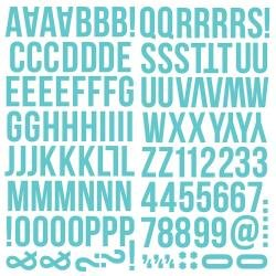 Simple Stories Color Vibe Foam Alpha Stickers 6X12 129/Pkg Teal