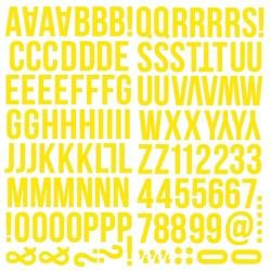 Simple Stories Color Vibe Foam Alpha Stickers 6X12 129/Pkg Yellow