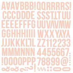 Simple Stories Color Vibe Foam Alpha Stickers 6X12 129/Pkg Blush