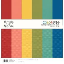 Simple Stories Color Vibe Double-Sided Paper Pack 6/Pkg Bold