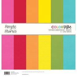 Simple Stories Color Vibe Double-Sided Paper Pack 6/Pkg Brights