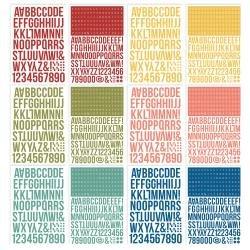Simple Stories Color Vibe Alpha Sticker Book 12/Sheets Bold, 1758/Pkg