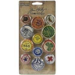 Idea-Ology Metal Adornments 12/Pkg Vintage Flair