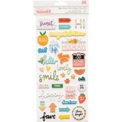 AC Amy Tan Picnic In The Park Thickers Stickers-Happy Hooray Phrase & Icons/Foam