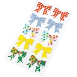 AC Amy Tan Picnic In The Park Paper Bows Stickers 10/Pkg