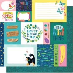 AC Shimelle Never Grow Up Double-Sided Cardstock 12X12 Forever Young