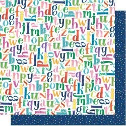 AC Shimelle Never Grow Up Double-Sided Cardstock 12X12 Pick A Letter