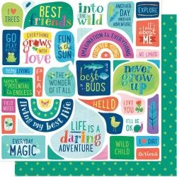 AC Shimelle Never Grow Up Double-Sided Cardstock 12X12 Everyday Magic