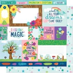 AC Shimelle Never Grow Up Double-Sided Cardstock 12X12 Dreams Come True