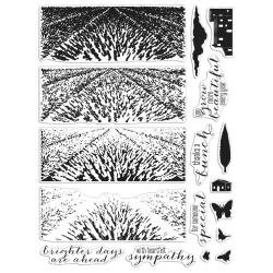 Hero Arts Color Layering Clear Stamps 4X6 Lavender Field