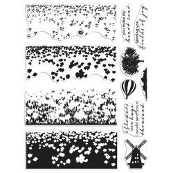 Hero Arts Color Layering Clear Stamps 4X6 Tulip Field