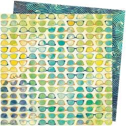 AC Vicki Boutin Let's Wander Double-Sided Cardstock 12X12 Beach Vibe