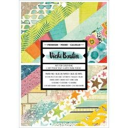 American Crafts Double-Sided Paper Pad 6X8 24/Pkg Vicki Boutin Let's Wander