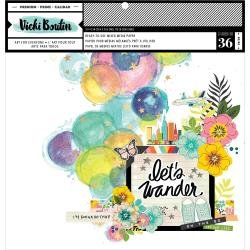 AC Vicki Boutin Mixed Media Backgrounds Paper 12X12 36/Pkg Let's Wander