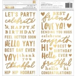 Pebbles Jen Hadfield Hey, Hello Thickers Stickers 178/Pkg Phrase/Puffy