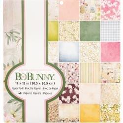 AC BoBunny Single-Sided Paper Pad 12X12 48/Pkg Garden Grove