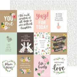 Pebbles Moments Double-Sided Cardstock 12X12 Lovely Quotes