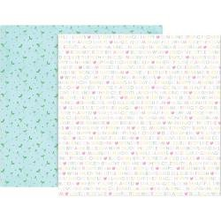 Pink Paislee Paige Evans Bloom Street Double-Sided Cardstock 12X12 #4