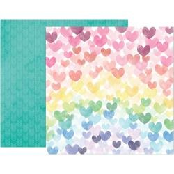 Pink Paislee Paige Evans Bloom Street Double-Sided Cardstock 12X12 #6