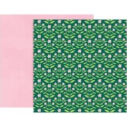 Pink Paislee Paige Evans Bloom Street Double-Sided Cardstock 12X12 #9