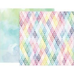 Pink Paislee Paige Evans Bloom Street Double-Sided Cardstock 12X12 #10