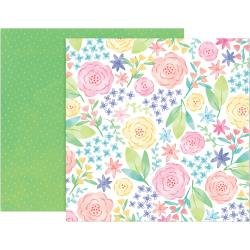 Pink Paislee Paige Evans Bloom Street Double-Sided Cardstock 12X12 #12