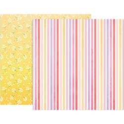 Pink Paislee Paige Evans Bloom Street Double-Sided Cardstock 12X12 #14