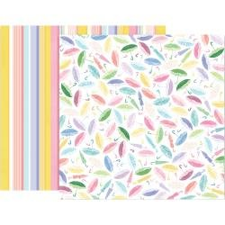 Pink Paislee Paige Evans Bloom Street Double-Sided Cardstock 12X12 #16