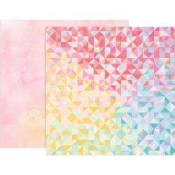 Pink Paislee Paige Evans Bloom Street Double-Sided Cardstock 12X12 #22