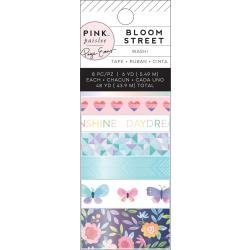 Pink Paislee Paige Evans Bloom Street Washi Tape 8/Pkg W/Iridescent Foil Accents