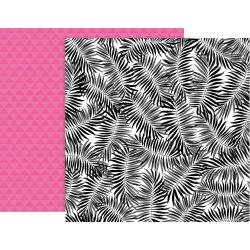 Pink Paislee 5th & Monaco Double-Sided Cardstock 12X12 #2