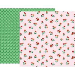 Pink Paislee 5th & Monaco Double-Sided Cardstock 12X12 #6